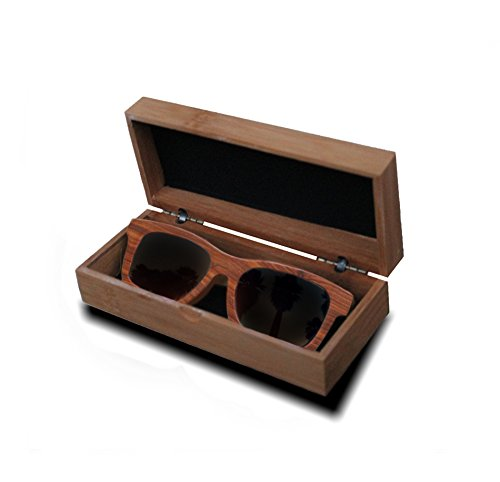 Wake Ballast Rose Wood Sunglasses Eyewear with Bamboo box