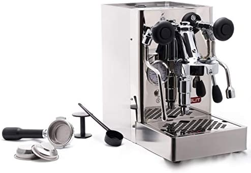 Lelit PL62S - Cafetera de espresso manual, color plateado: Amazon ...