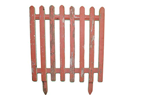 - Reclaimed Barnwood Plain Picket Fence, Approximately 24