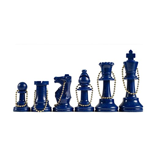 We Games Keychain Bag Tag Chessmen  Includes 17 Pieces In Blue