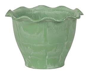 Hills importaciones compuesto reciclado maceta, 9pulgadas, Verde
