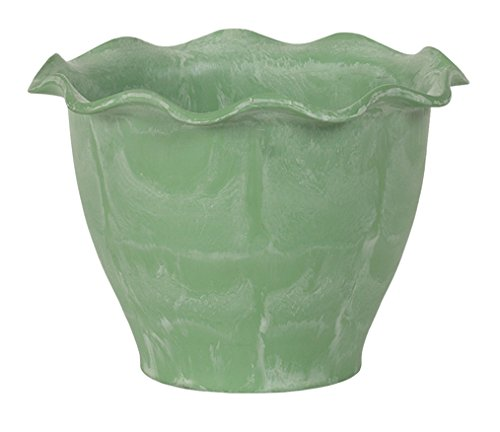 Hills Imports Recycled Composite Planter, 9-Inch, Sage Green