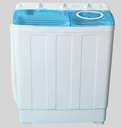 Home Life - Portable Compact Tub Automatic Washing Machine with Spin Cycle Dryer 7 lbs Large Capacity 128sa