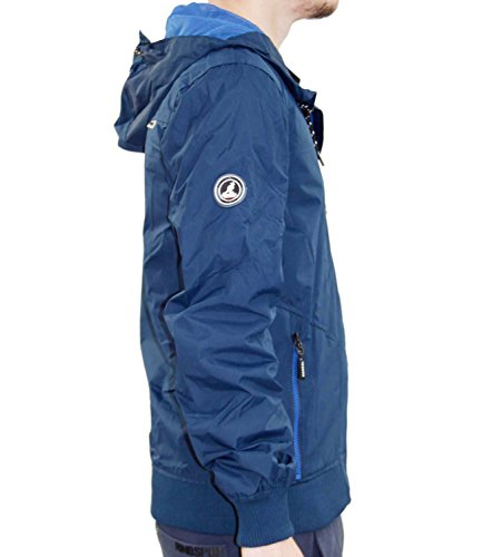repelente verano chaqueta forrada chaqueta capucha de de Kangol con con hombres malla de diseñador agua Navy Nuevos qtATx0w17