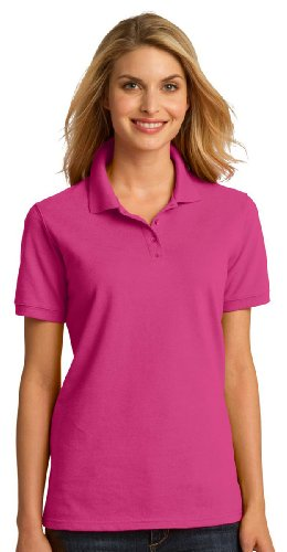 Port & Company Women's Soft Perfect Pique Polo Shirt_Sangria_Medium
