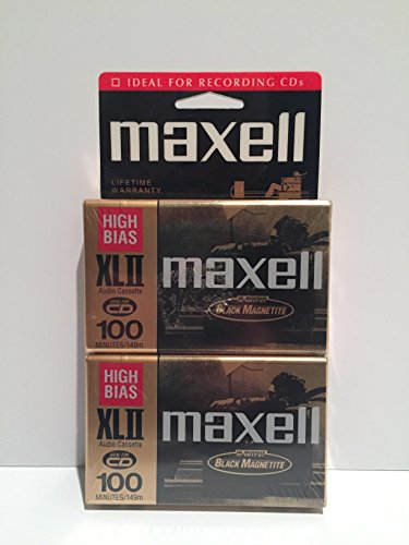 MAXELL XL II 100 Audio Cassette Tape (Pack of 2) (Discontinued by Manufacturer) by Maxell