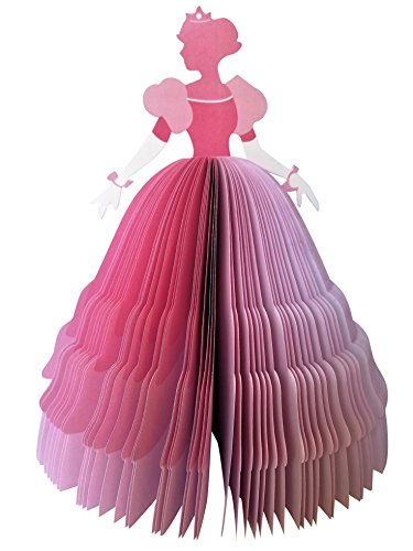 3D Princess Notepad Easy to Tear 150 Pages, 8 Inches Tall, L