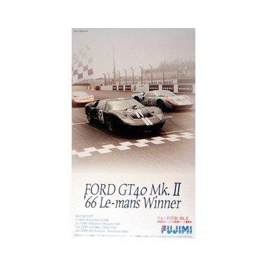 フジミ模型 1/24 ヒストリックレーシング カーシリーズ HR13 フォード GT40`66LM優勝車の商品画像