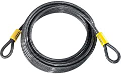 Perfect for locking two or more bicycles, motorcycles or scooters together when combined with another Kryptonite lock. 10mmBRAIDED STEEL CABLEprovides increased cut resistance. DOUBLE LOOPED CABLEfor use with all Kryptonite U-locks, disc l...
