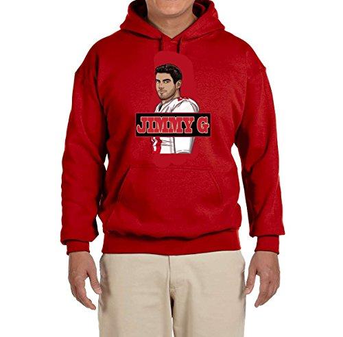 Tobin Clothing RED San Francisco Jimmy G Hooded Sweatshirt Adult 2XL