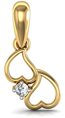 Avsar New Collection 18K  750  Yellow Gold and Diamond Pendant