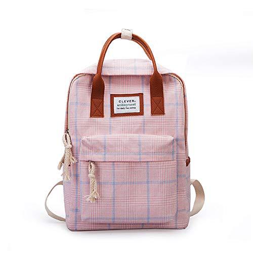 Fsweeth Studenti di Sesso Femminile schoolbags Harajuku Wild Campus Doppia Spalla Zaino,37cm29cm13cm, rosa