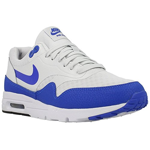 Nike Air Max 1 Ultra Essentials Womens Trainers 704993 Sneakers Shoes (UK 4 US 6.5 EU 37.5, Pure Platinum Game Royal Black 002) (Nike Air Max 1 Ultra Flyknit Black)