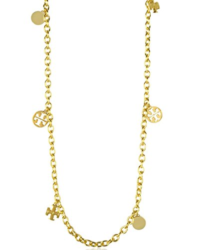 Tory burch logo charm rosary necklace lifestyle updated for Tory burch jewelry amazon