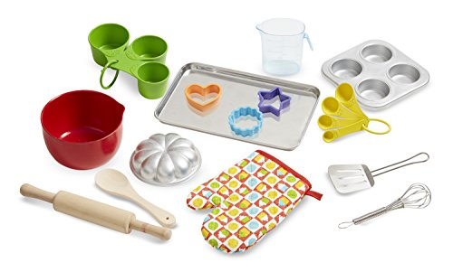 Oven Crystal (Melissa & Doug Baking Play Set (20 pcs) - Play Kitchen Accessories)