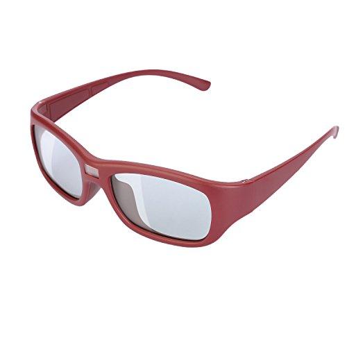 LESOLEIL Sunglasses - Auto-Darkening LCD Lens, Red Frame
