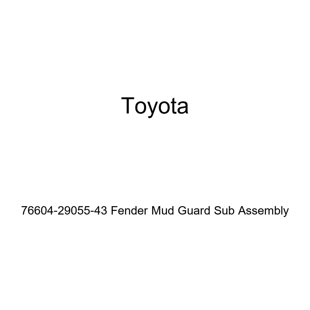 TOYOTA Genuine 76604-29055-43 Fender Mud Guard Sub Assembly