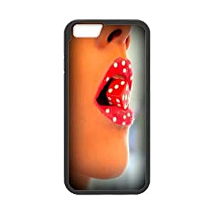 Custom red Lips Plastic Case, DIY red Lips Case for iPhone6 4.7""