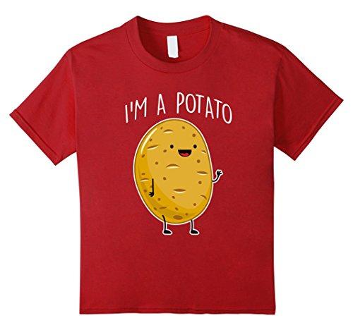 Cranberry Potato (Kids I am Potato T shirt 10 Cranberry)