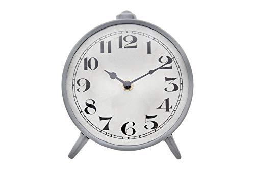 Creative Co-op Round Metal Mantel Clock, 6