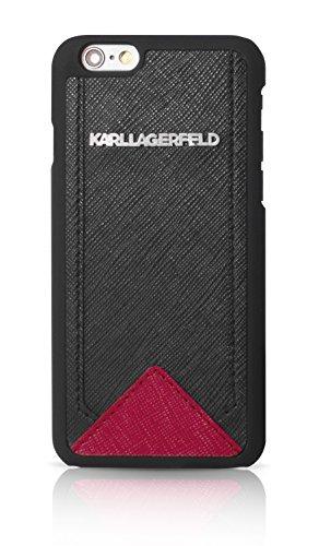 Karl Lagerfeld KLHCP6SABR Klassic Saffiano Bicolor Schutzhülle für Apple iPhone 6/6S 11,9 cm (4,7 Zoll) schwarz/rot