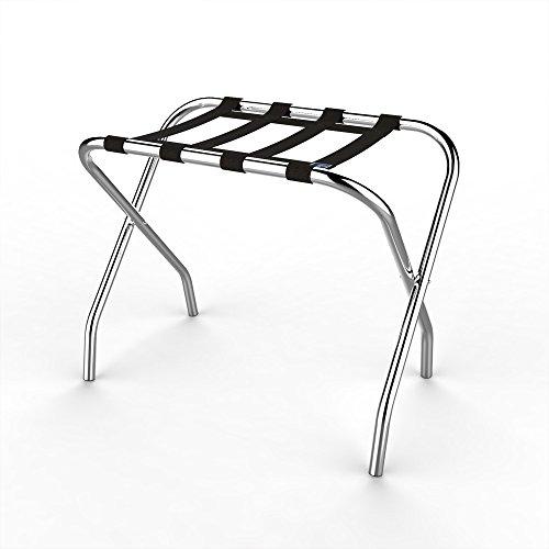 Lavish Home Chrome Folding Luggage Rack and Suitcase Stand- Durable Folding Bag Holder with Black Nylon Straps by Lavish Home (Image #5)