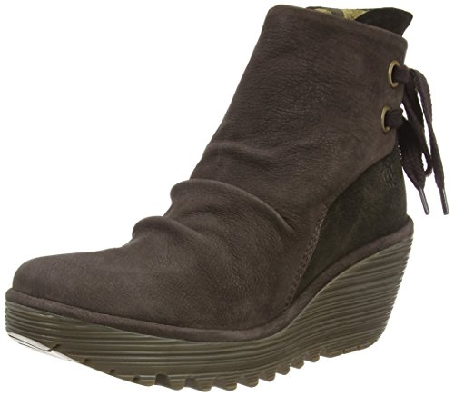 Marrón chocolate 060 olive Para London Mujer Yama Fly Botines wRHqYxX