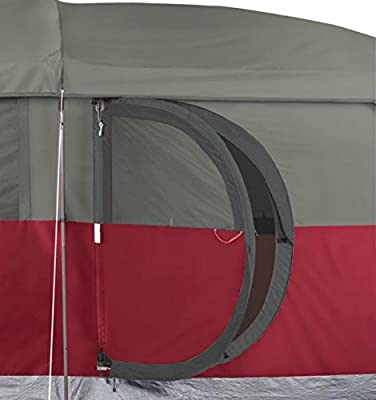 NEW! COLEMAN Hampton 6 Person Family Camping Cabin Tent w/ WeatherTec | 13' x 7'