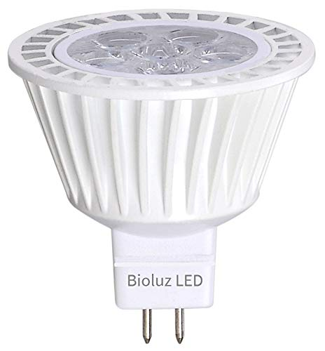 Bioluz LED™ MR16 LED Bulbs, 50W Halogen Equivalent, 7w 12 VAC/DC, GU5.3 Base, 350lm, 40 Beam Angle, Warm White, 3000K, Recessed Lighting, Track Lighting, Spotlight, UL Listed