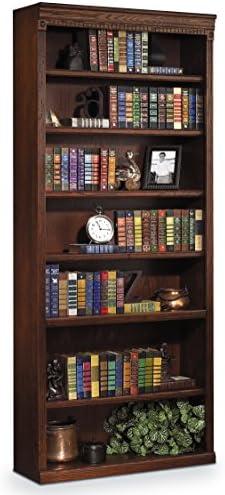 Martin Furniture Huntington Oxford 84 Open Bookcase, Burnish Finish, Fully Assembled