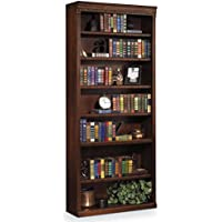 Martin Furniture Huntington Oxford 84 Open Bookcase, Burnish Finish, Fully Assembled