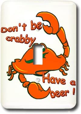 3drose Lsp 1485 1 Don T Be Crabby Have A Beer Single Toggle Switch Switch Plates Amazon Com