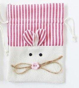 DISOK - Bolsa Yute Ratón Rosa - Bolsas Ratón Bebés, Recién Nacidos, Ideales para Dientes
