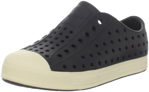 Price comparison product image Native Jefferson Slip-On Sneaker,  Jiffy Black/Bone White, 9 M US Toddler
