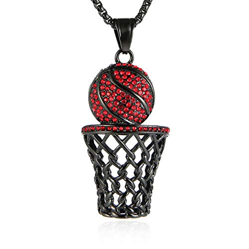 HZMAN Mens 18k Gold Silver Plated Basketball