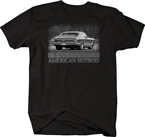 Bold Imprints Retro - American Hotrod Chevy Chevelle SS Blue Muscle Car Tshirt - 4XL