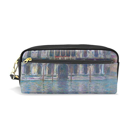 - Pencil Case Pen Bag Monet's Palazzo Contarini Stationery Pouch Cosmetic Makeup Wristlets Bag Zipper