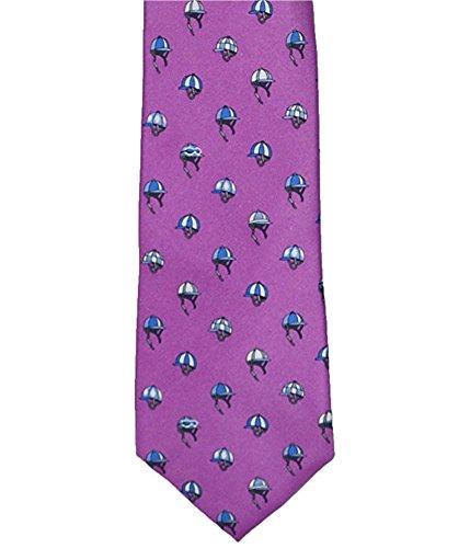 Kentucky Derby Jockey Silks - Tommy Hilfiger Horse Jockey Hats 100% Silk Neck Tie (Purple, One Size)