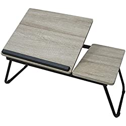Adjustable Laptop Table, Portable Bed Tray, Book Stand With Foldable Legs
