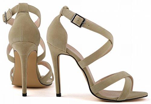 CFP , Damen Peep Toes , beige - nude - Größe: 39