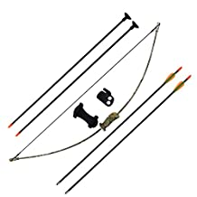 SinoArt Archery Bow and Arrow Set for Kids Children Youth Outdoor Sports Game Hunting Toy Gift Bow Kit Set with 4 Arrows 16 Lb (Camo)