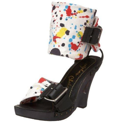 Irregular Choice Women's Nolita Honey Wedge,White/Black,11 M (Irregular Choice Women Footwear)