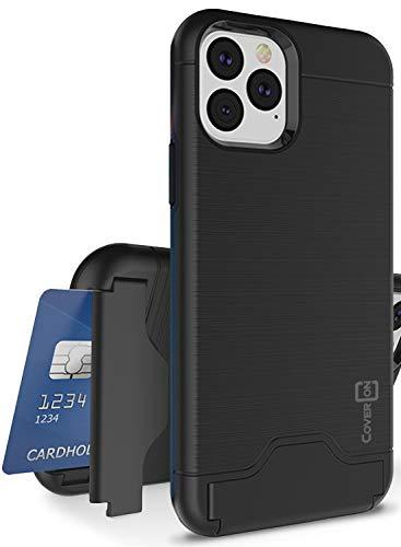 CoverON Protective Kickstand Credit Card Holder SecureCard Series iPhone 11 Pro Case (2019), Black