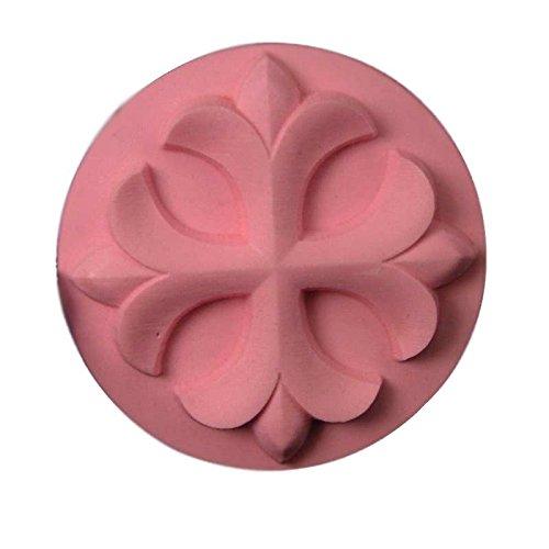 Blocks Fleur Lis De - Circle Fleur de Lis Cross Soap Mold