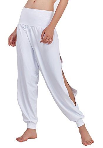 Matymats Yoga Harem Pants for Women Sports Dancing Workout Sweat Pants Side Slit