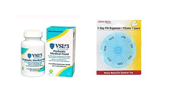 Amazon.com: VSI 3 cápsulas probióticas de alta potencia para la colitis ulcerosa-60 EA by Sigma-Tau Pharmaceuticals con gratis 7 días plástico píldora ...