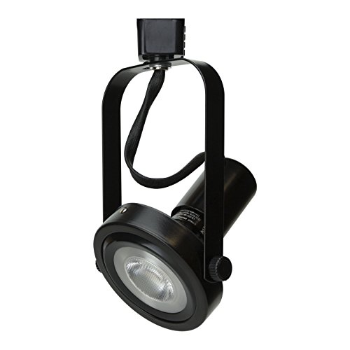 D&D Brand H System PAR30 Line Voltage Gimbal Ring Rear Loading Track Lighting Fixture Black HTC-9005-BK (No Bulb)