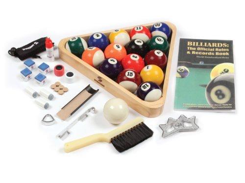 Sportcraft Deluxe Billiard Starter Set with Cues and Holder (Sportcraft Billiard Balls)