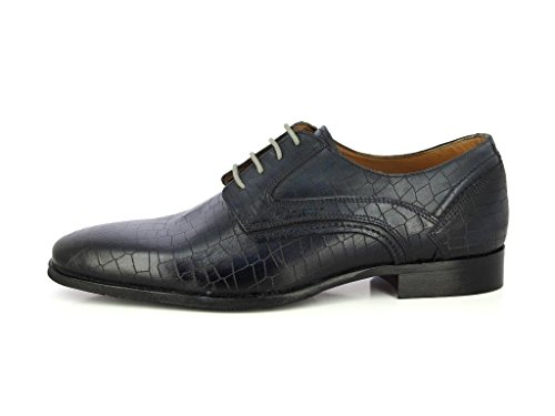 ALBERTO TORRESI Mens DURBEY Tan Lace UP Formal Shoes- Geniune Leather Formal Party Shoes Dark Grey iT008