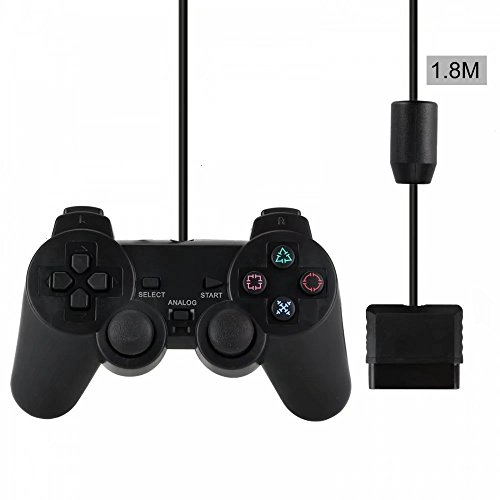 PS2 Wired Controller for Sony PlayStation 2 Black